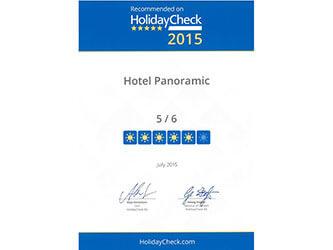 "Panoramic Hotel bei der Holidaycheck Quality Selection 2015 mit ""sehr gut"" bewertet"
