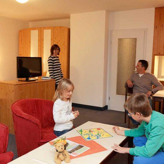 Ferienwohnung Harz Comfort Apartment Typ B Blick in den Küchenbereich