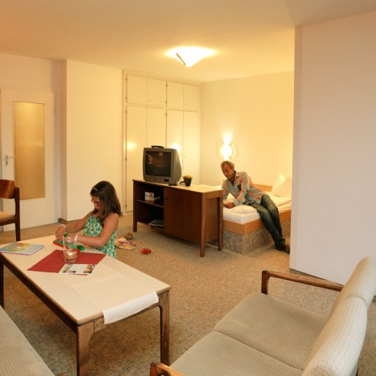 Blick in das Standard Apartment Typ B - Harz Apartments im Panoramic Hotel